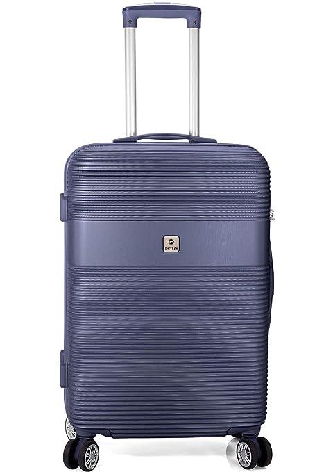Maleta benzi Azul Oscuro 4 Ruedas Material Ligero ABS rígido 50cm (38x54x20) 3kg