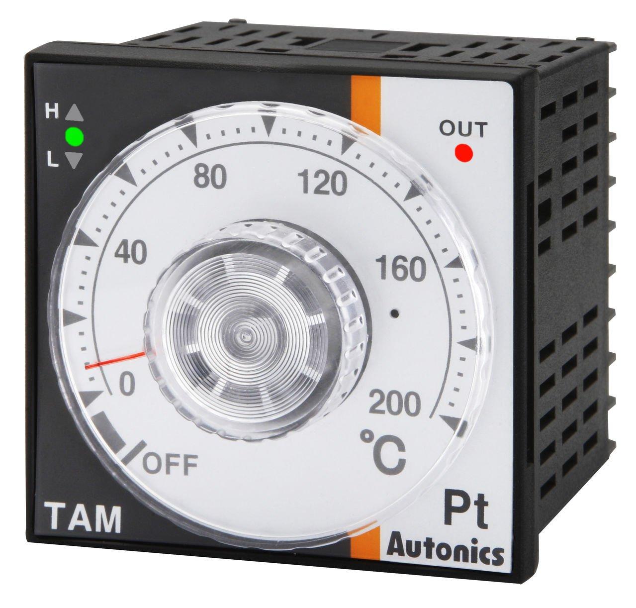 Autonics TAM-B4SP1C Temp Control, DIN W72XH72mm, Analog, PID Control, SSR Output, RTD Input, 100 C, 100-240 VAC by Autonics USA, Inc