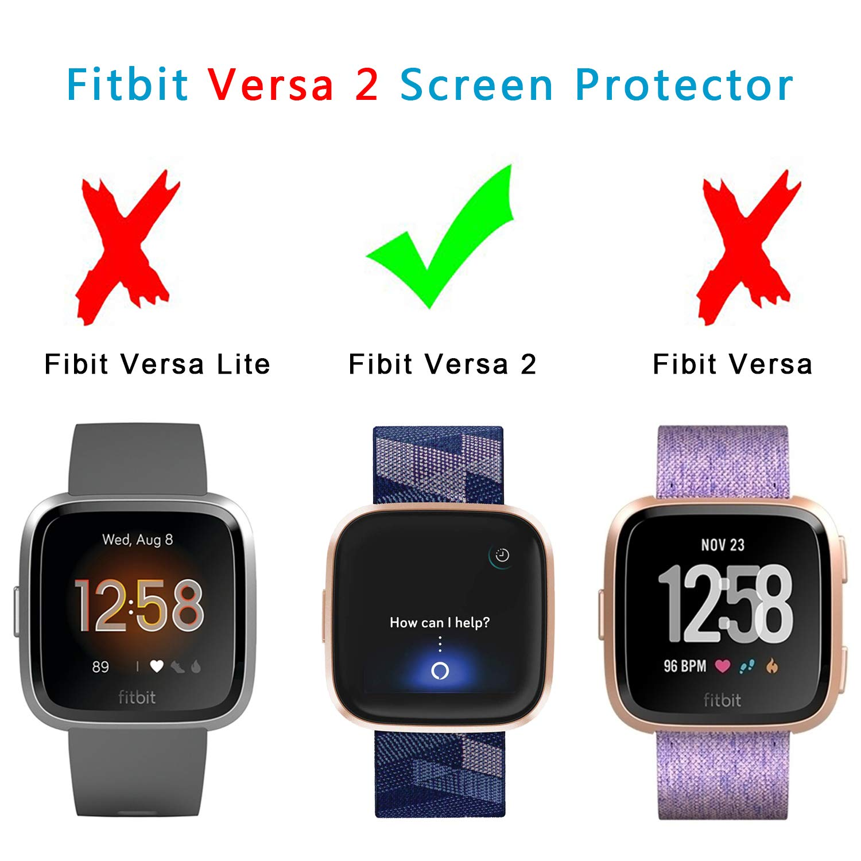 Edge Coverage TPU Case Screen FASTSNAIL Case for Fitbit Versa 2 2-Pack