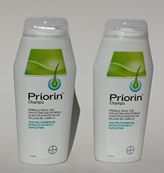 Pack: 2x Priorin Shampoo (200ml+200ml) for Hair Loss (Bayer)