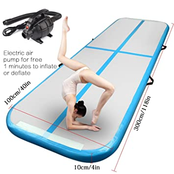 Gimnasia inflable Tumbling Mat Air Track alfombras de piso ...