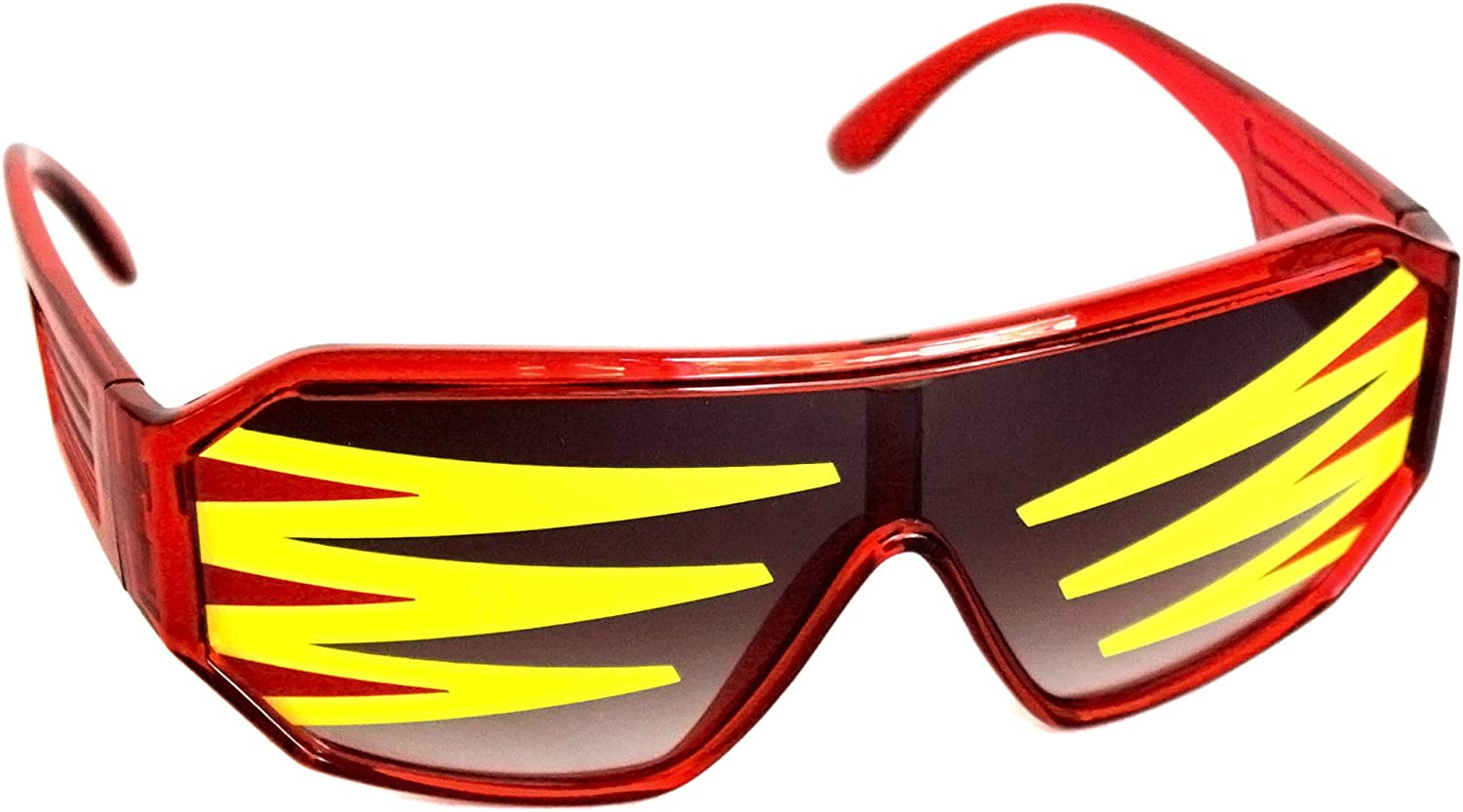 Rasslor Side Spike Red Shield Sunglases: Clothing