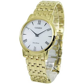 de3bfc7381d Buy Citizen Stiletto Stainless Steel White Dial Gold Quartz Men s Watch  AR1122-54A Online at Low Prices in India - Amazon.in