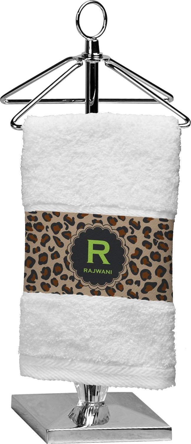 RNK Shops Granite Leopard Finger Tip Towel (Personalized) by RNK Shops (Image #1)