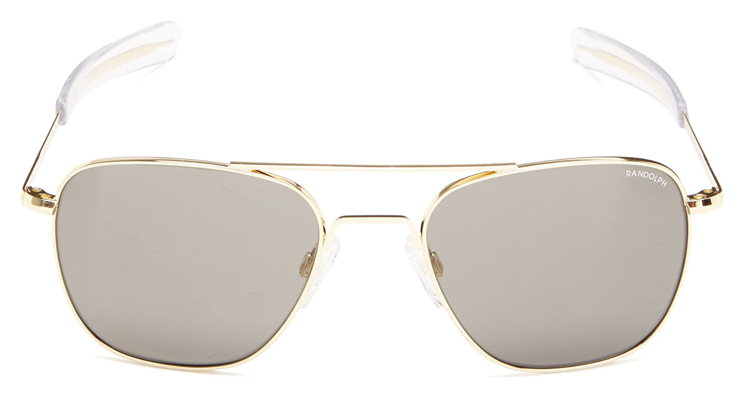 Amazon.com  Randolph Aviator Square Sunglasses, 55, 23K Gold, Bayonet, Gray  Lenses  Clothing 57493422dd84
