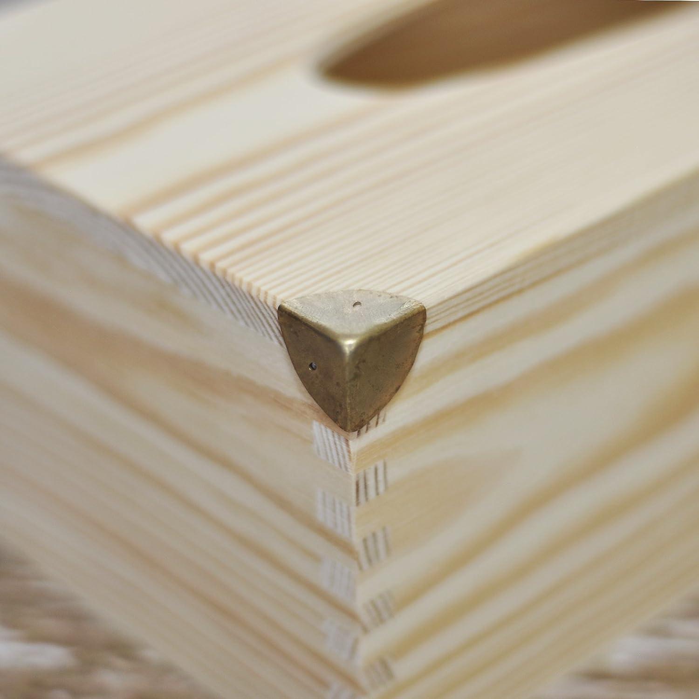 Creative Deco 8 x Brust Koffer Koffer Schutz Ecken Braun//Gold 1,6 x 1,6 x 1,6 cm perfekt f/ür alle unsere Boxen
