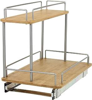Household Essentials 1265B 1 Glidez Under Sink Sliding Organizer | Pull Out  Cabinet Shelf |