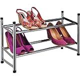 Relaxdays - Zapatero con 2 pisos (hasta 12 pares de zapatos, apilable, construcción resistente)