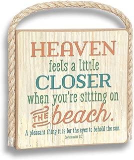 product image for Imagine Design Heaven Feels a Little Closer Gone Coastal Plaque