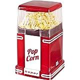 Beper 90.590 Pop Corn Retro Máquina para hacer palomitas 1200 W, Blanco y rojo.