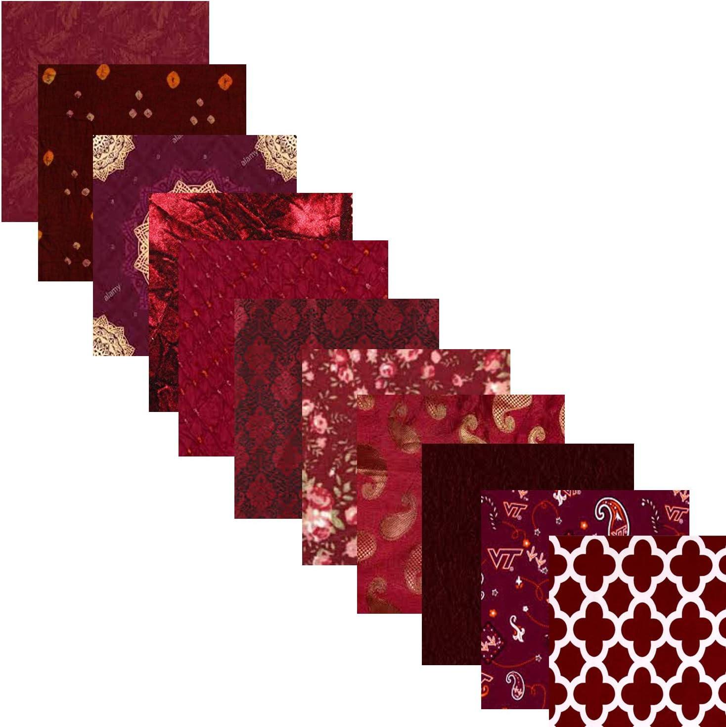 Burgundy Satin Lining Fabric Dark Red Fat Quarter - 18 x 30 Maroon Sample Size Fabric