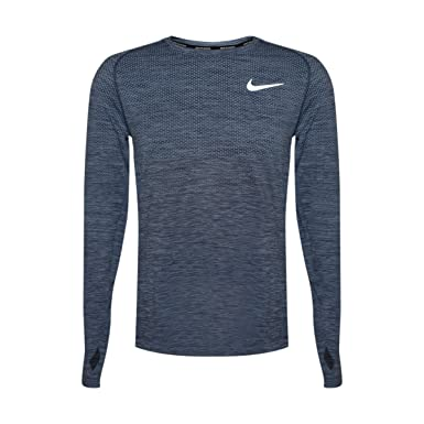f97ccdd12b1 Amazon.com  NIKE Mens Therma Sphere Element Long Sleeve Running Top (Blue  Heather