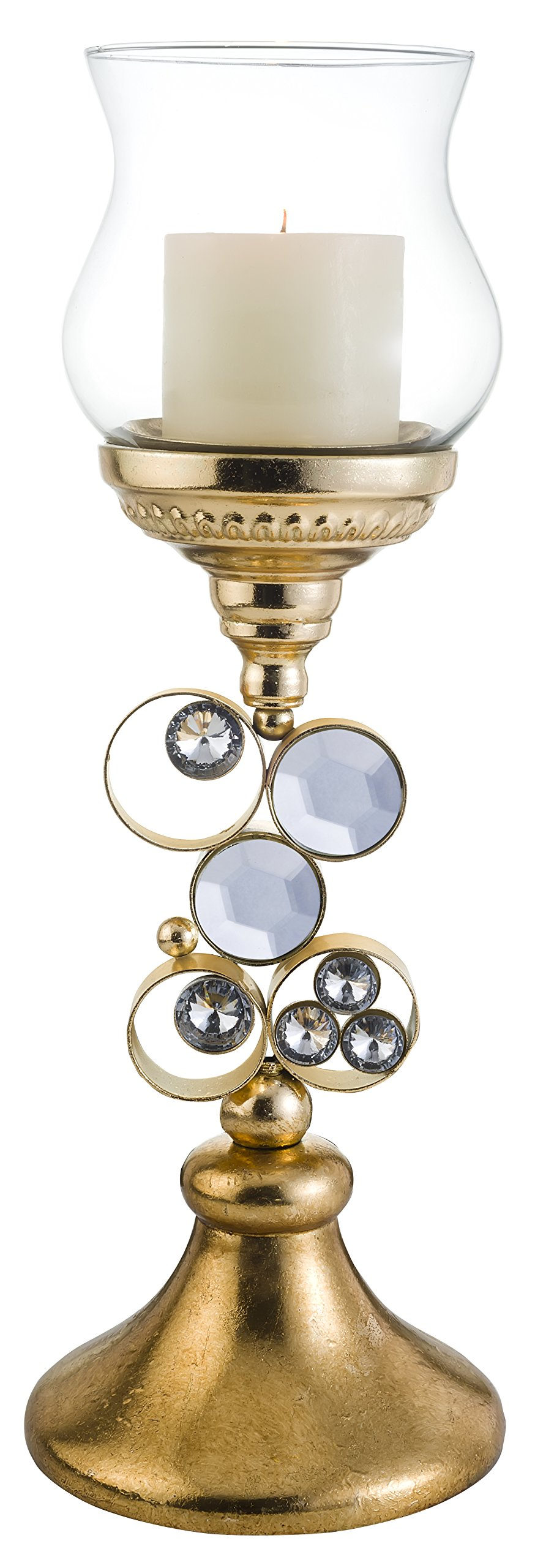 OK Lighting Metallic Glimmer of Gold Candleholder with Out Candle, 18.0'' by OK Lighting