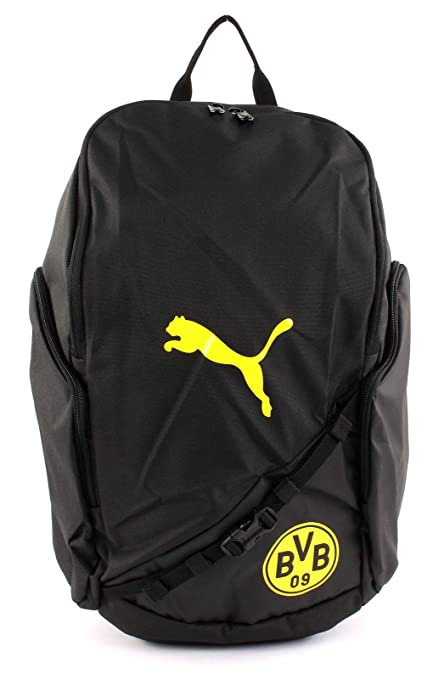Puma BVB Liga Backpack Mochila, PUMA Black de Cyber Yellow, UA