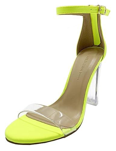 d03d3ffef74 Amazon.com | Women's Strappy Chunky Block High Heel Sandals Formal ...