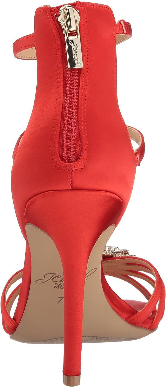 Red 7.5 M US Jewel Badgley Mischka Womens Hazel Dress Sandal