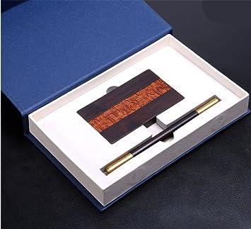 AJKSHBD Laiton Pen Metallique Signature Violet Tan Incruste Rosewood Porte Cartes De Visite Chinois Rose