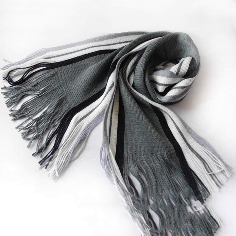 Fashion Winter Warm Mens Scarf Classical Striped Artificial Scarf Men Tassels Scarf Long Shawl Scarf