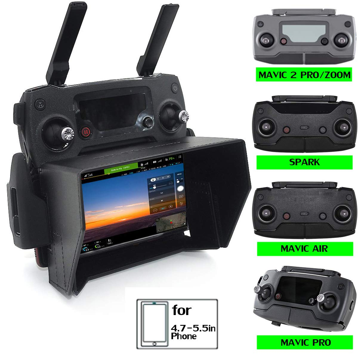Sun Hood Sunshade for DJI Mavic PRO / mavic air / SPARK Accessories RC  Drone Remote Control