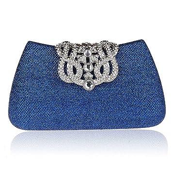 KAXIDY Bolsa de Embrague Bolso de Tarde Bolsa mensajero Cartera de mano para Mujer (Azul): Amazon.es: Equipaje