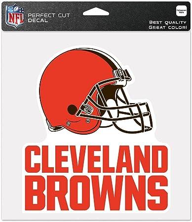 White Cleveland Browns Die Cut Transfer Decal Strip