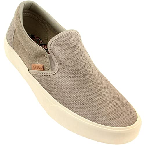 6821ee0e3d Vans Men Classic Slip On Ca Knit Suede (Gray Aluminum)-10.0  Amazon.ca   Shoes   Handbags