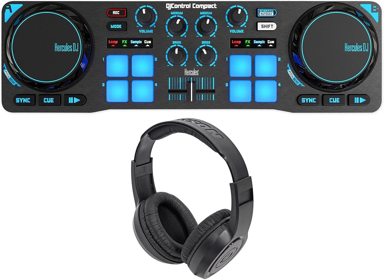 Amazon.com: Hercules DJControl Compact USB 2-Deck DJ ...