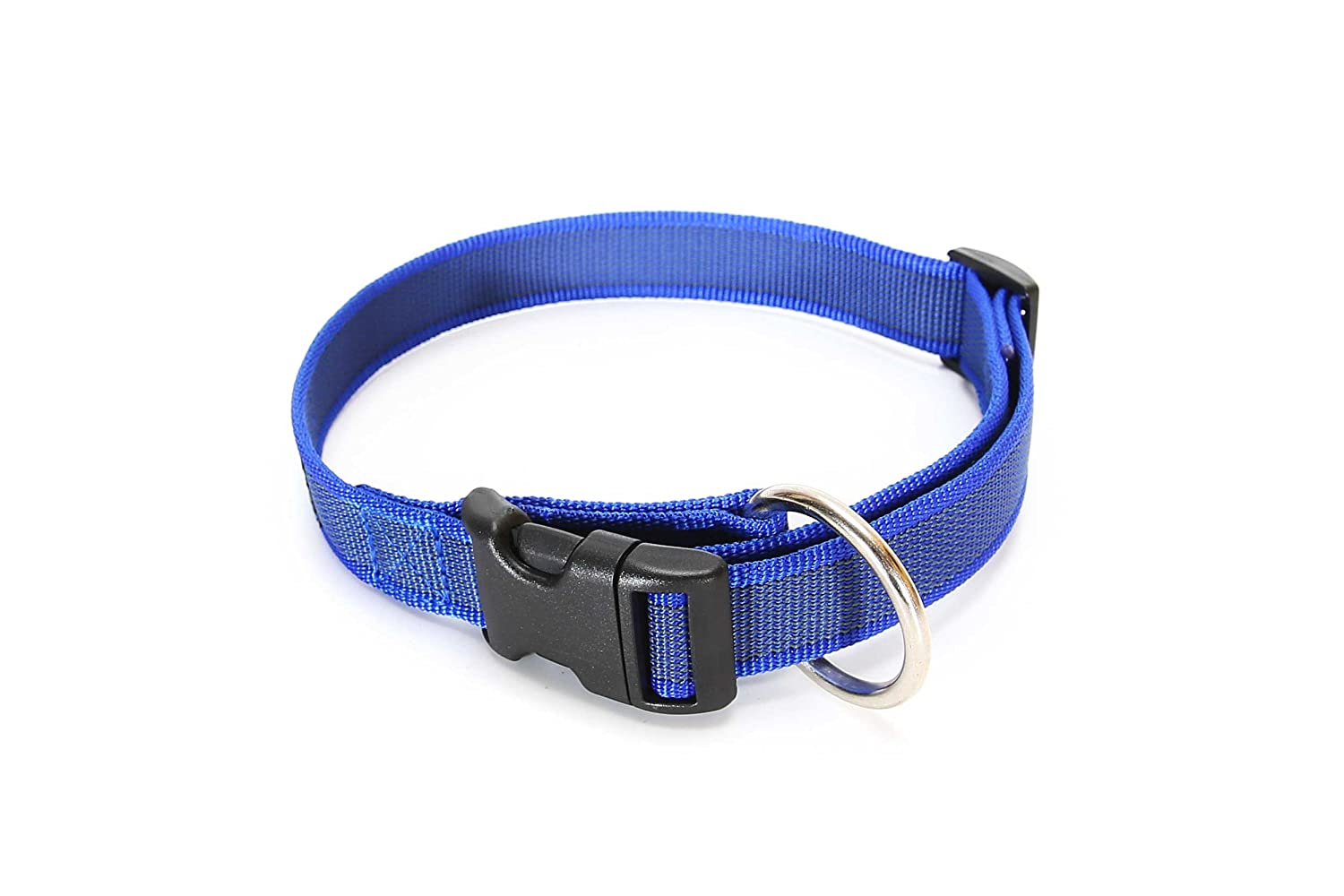 49-70 cm 50 mm Julius-K9 Color /& Gray Collar with Handle Red-Gray Safety Lock and Interchangeable Patch