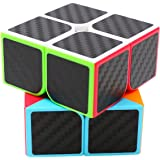 Speed Cube 2x2x2, LSMY Puzzle Magic Cubes Carbon Fiber Sticker Toy