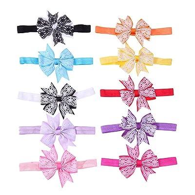 10pcs Cute Fashion Baby Kids Girls Print Bowknot 10 Color Princess Hairband Hair Accessories Headband Headwear Swell Flash Attractive Kids Headdress Hair