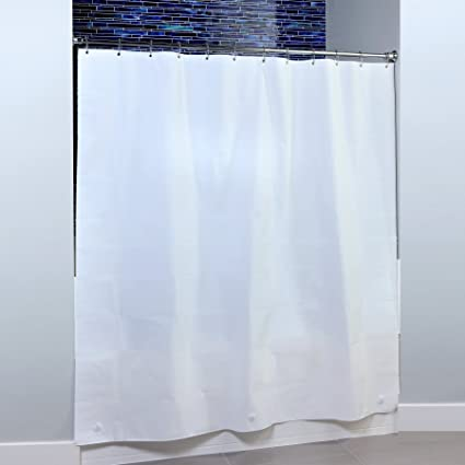 SlipX Solutions Mildew Resistant White Shower Curtain Liner With Microban Antimicrobial Protection 100 PEVA