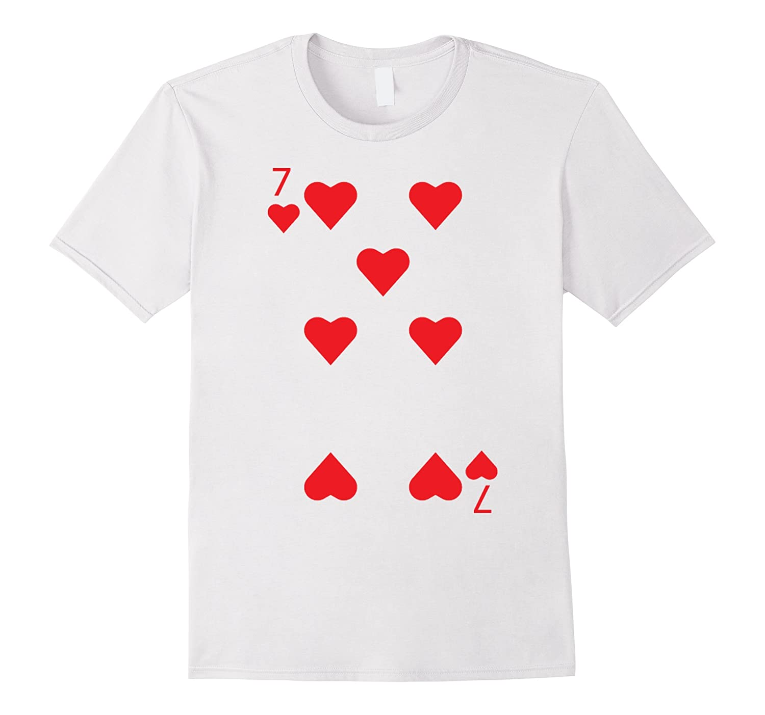 7 of Hearts Playing Card Matching Halloween Costume T-shirt-FL