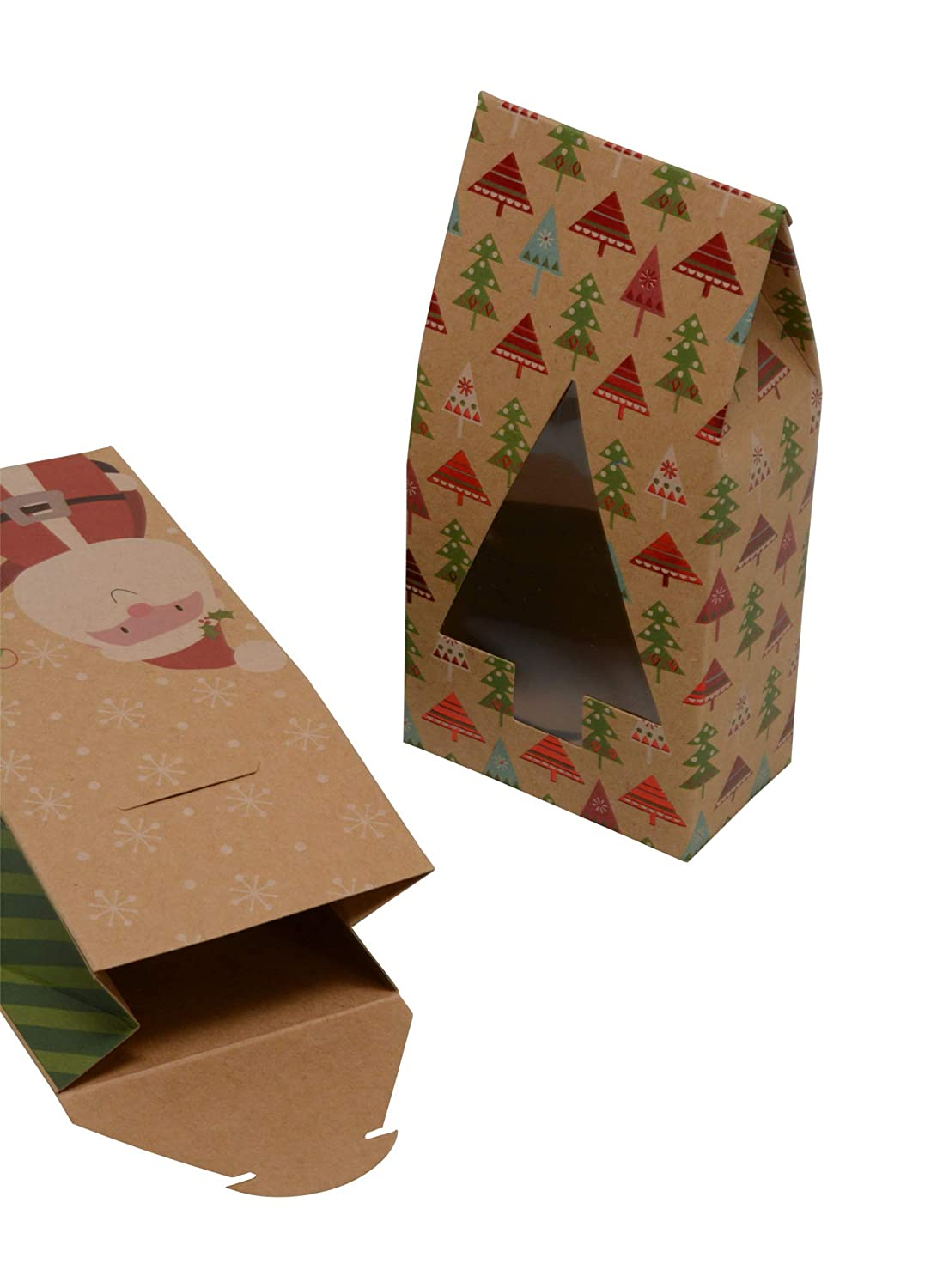 Style B - No Stickers Christmas cookie tent boxes; set of 12 boxes