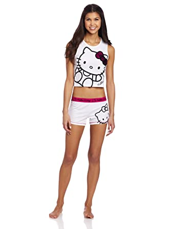53687bed6 Hello Kitty Women's Sequin Bow Short Set at Amazon Women's Clothing store: Pajama  Sets