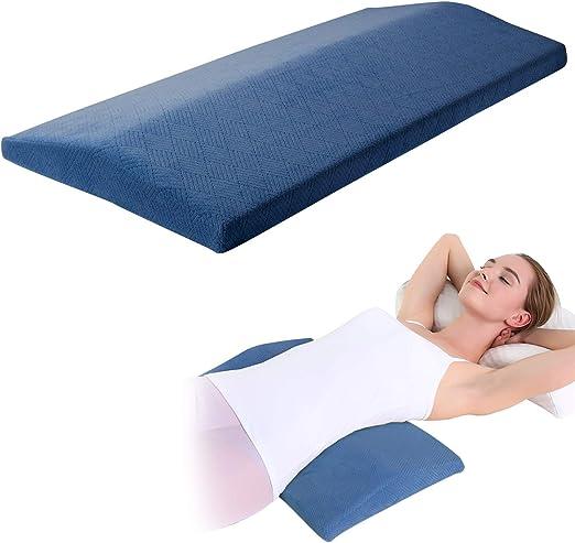 Almohada ortop/édica lumbar de apoyo para la cintura y el dolor de piernas y la cadera para dormir en el lado de la espuma de memoria para dormir para dolor de espalda baja KWLET