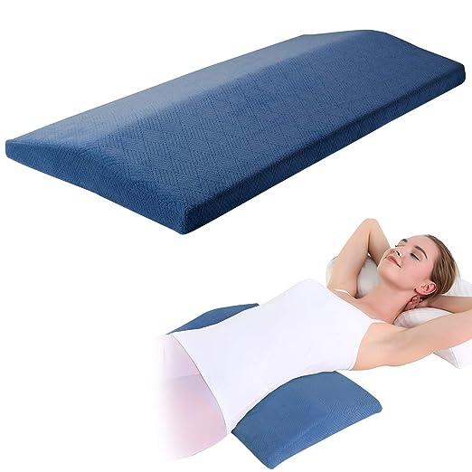 KWLET - Almohada ortopédica Lumbar de Apoyo para la Cintura y el Dolor de piernas y la Cadera para Dormir en el Lado de la Espuma de Memoria para ...
