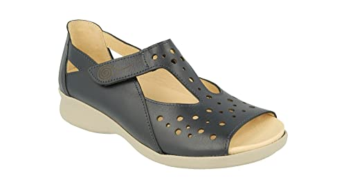 3b6626460bd Db Shoes Marigold Wide Fit Ladies Sandals 6E-8E Fitting - Navy ...