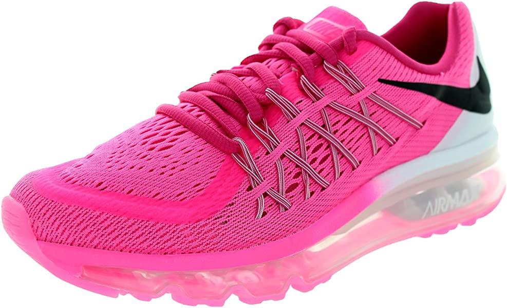 Kids Air Max 2015 (Gs) Pink PowBlackVivid PinkWhite Running Shoe