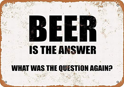 Beer Is The Answer Póster De Pared Metal Retro Placa Cartel ...