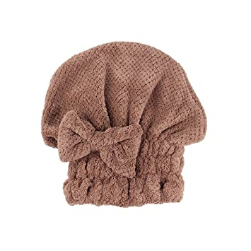 Amazon.com : Hennta Microfiber Hair Turban Quickly Dry Hair Hat ...