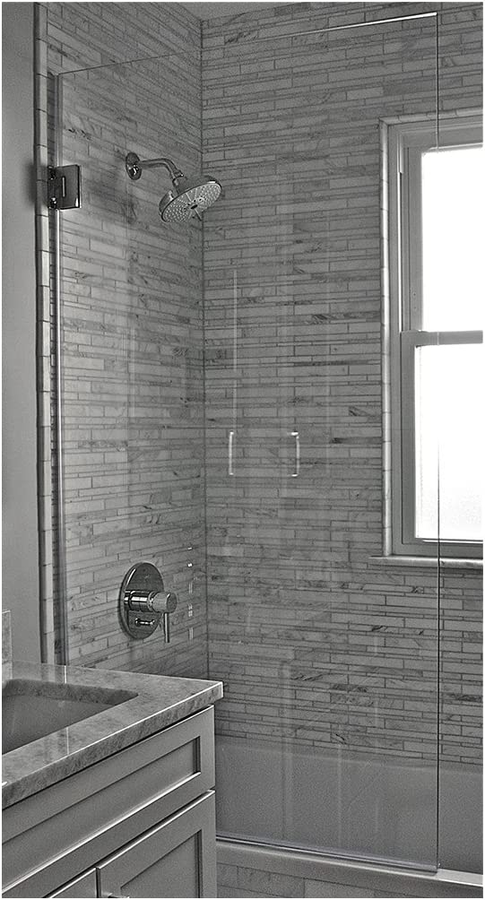 Ark Showers 603008SHS Semi-Frameless Bathtub Shower Screen and Accessory, Polished Chrome