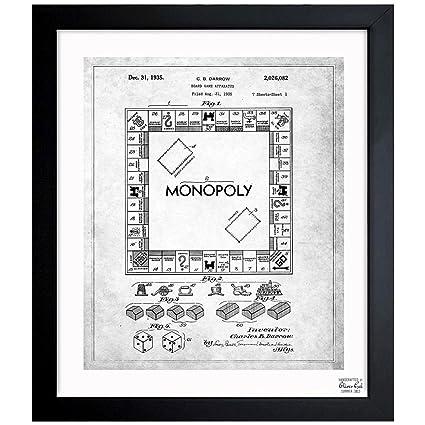 Amazon.com: Monopoly 1935 - Noir\' Vintage Framed Wall Art Print for ...