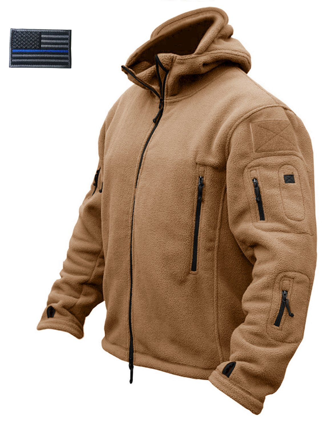 CRYSULLY Men Winter Cotton Casual Fishing Hoodie