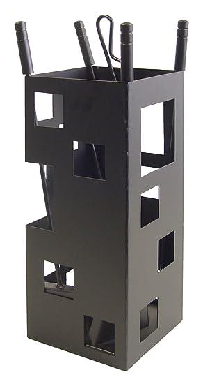 classic fit latest discount half price mex El Zorro 10004 Serviteur de cheminée forme carrée 50 x 20 x 20 cm avec  accessoires Noir