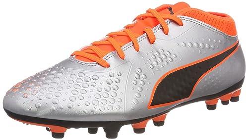 41644f08b31 Puma Men s ONE 4 Syn AG Footbal Shoes Silver-Shocking Orange Black ...