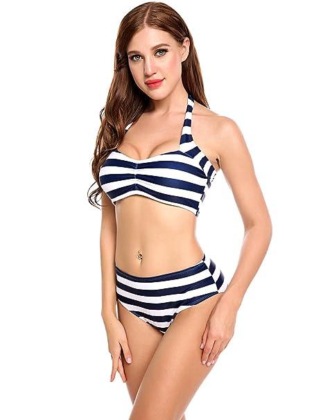 4ecc55fbf3 Amazon.com  Loveje high Waisted Bikini Cute Bathing Suits Juniors Swimsuits  Sets  Clothing