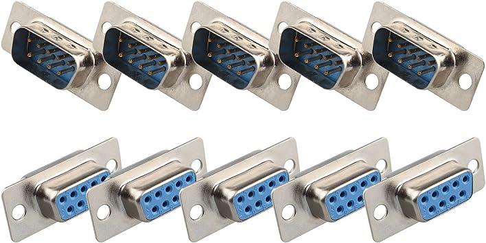 10pcs D-SUB 9 Pin DB9 Female Solder Type Socket Connector  U p9