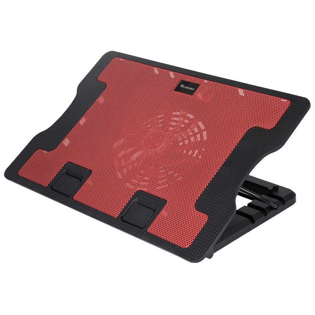 """STORITE Technotech Super Silent Premier Quality 638 B High Cooling Pad with 1 Big Fan at 1200RPM,2 USB Ports,Fan Control Button & 1 USB Cable for All Notebooks/Upto 17"""" Laptops/All Tablet (Red)"""