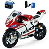 Peg Perego Ducati GP Motorcycle Ride On with Spare 12 Volt Battery