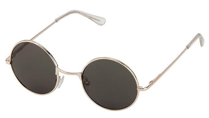 RUNDE SONNENBRILLE VERSPIEGELT Modern Nickelbrille Lennon